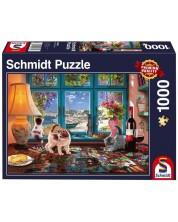 Пъзел Schmidt от 1000 части - Котенца на масата