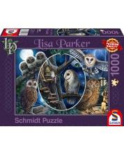 Пъзел Schmidt от 1000 части - Мистериозните сови, Лиса Паркър -1