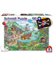 Пъзел Schmidt от 100 части - Пиратски остров, с пиратско знаме -1