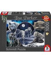 Пъзел Schmidt от 1000 части - Потайните вълци, Лиса Паркър -1