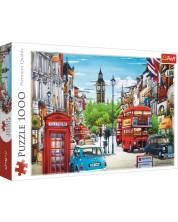 Пъзел Trefl от 1000 части - Улица в Лондон, Хиро Таникава -1