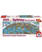 Панорамен пъзел Schmidt от 1000 части - Сидни, Хартуиг Браун -1