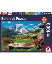 Пъзел Schmidt от 1000 части - Рай високо в планината