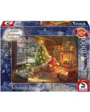 Пъзел Schmidt от 1000 части - Дядо Коледа е тук, Томас Кинкейд -1