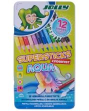 Акварелни моливи JOLLY Kinder Aqua – 12 цвята