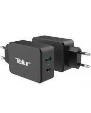 Зарядно Tellur - AC Charger QC 3.0, черно -1