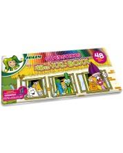 Комплект цветни моливи Jolly Kinderfest XXL - 48 цвята, метална кутия
