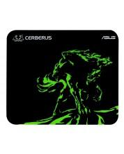 Гейминг подложка Asus - Cerberus Mat Mini, черен/зелен