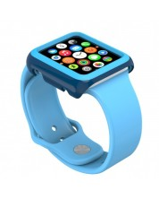 Калъф Speck - CandyShell Fit, за Apple watch 42 mm, deep sea blue/lagoon blue -1