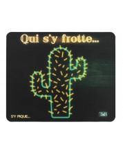 Подложка за мишка TNB - Cactus, черна