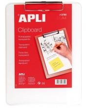 Клипборд APLI – Прозрачен, А4