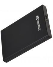 Кутия за хард диск- USB 3.0, 2.5'', черна -1