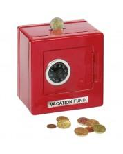 Метален сейф Goki - С шифър, червена -1