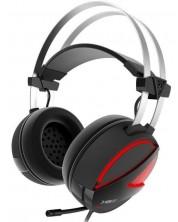 Гейминг слушалки Gamdias - Hebe E1, червени