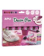Комплект гел маркери APLI - 6 броя х 25 ml, блестящи цветове
