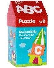 Образователен пъзел APLI Kids – Къща от букви, 40 части