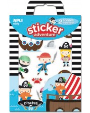 Детска игра със сцени и стикери APLI Kids - Пиратски приключения -1