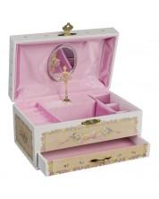 Музикална кутия с чекмедже Goki - Балерина, Swan lake -1