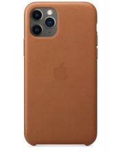 Калъф Apple  - Leather Case, за iPhone 11 Pro, saddle brown