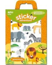Детска игра със сцени и стикери APLI Kids – Приключения в Джунглата -1