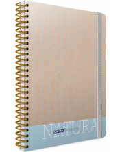 Ученическа тетрадка 120 листа Gipta Nature - Синя -1