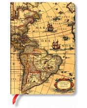 Тефтер Paperblanks - Western Hemisphere, с ластик
