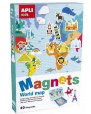 Магнитна игра Apli - Картата на света