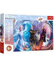 Пъзел Trefl от 100 части - Магията в Замръзналото кралство 2 -1