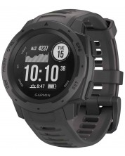 GPS часовник Garmin - Instinct, graphite -1