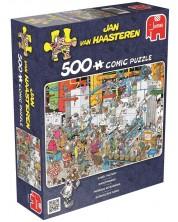 Пъзел Jumbo от 500 части - Фабрика за бонбони,  Ян ван Хаастерен