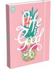Кутия с ластик Lizzy Card A4 - Life is Good, Good Vibes -1