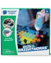 Детски комплект Learning Resources - Светеща мозайка, с винтоверт -1