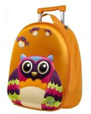 Детски куфар на колелца Oops - Бухал -1