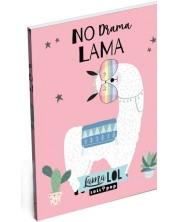 Тефтер Lizzy Card- Lama LOL, формат A7 -1