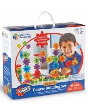 Детски конструктор със зъбни колела Learning Resources -100 части -1