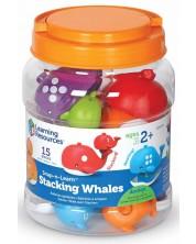 Детска логическа игра Learning Resources - Забавните китове -1
