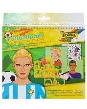 Книжка за рисуване със стикери и шаблони Folia – Футболисти -1
