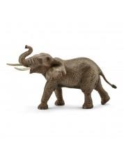 Фигурка Schleich от серията Дивия живот - Африка: Африкански слон - мъжки с вдигнат хобот
