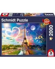 Пъзел Schmidt от 2000 части - Ден и нощ в Париж -1