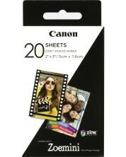 "Фотохартия Canon - Zink 2x3"", за Zoemini, 20 броя"