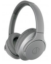 Слушалки с микрофон Audio-Technica - ATH-ANC700BT, безжични, hi-fi, сиви -1