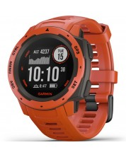 GPS часовник Garmin - Instinct, flame red -1