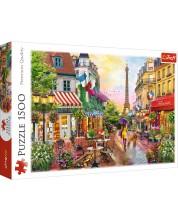 Пъзел Trefl от 1500 части - Очарованието на Париж, Дейвид Маклийн -1