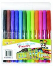 Цветни флумастери Gimboo - 12 цвята -1