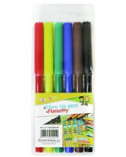 Цветни флумастери Gimboo - 6 цвята -1