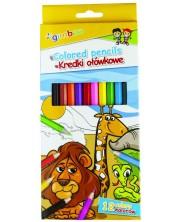 Цветни моливи Gimboo - 12 цвята -1