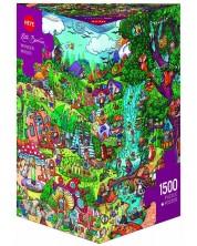 Пъзел Heye от 1500 части - Приказен лес, Рита Берман -1