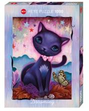 Пъзел Heye от 1000 части - Черно коте, Джеремая Кетнер