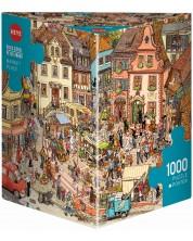 Пъзел Heye от 1000 части - Пазар, Доро Гьобел и Петер Кнорр -1