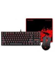 Гейминг комплект Redragon - Gaming Essentials 3-in-1, черен